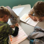 Journaling about our trip to the pumpkin patch